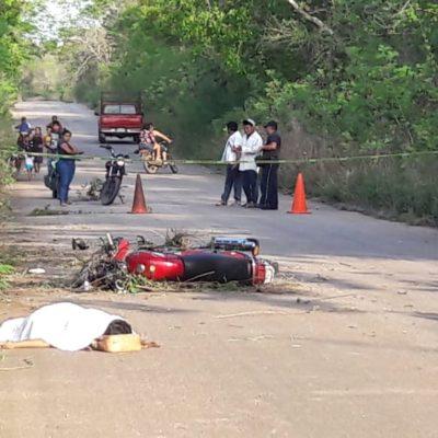 Mujer fallece en accidente de motocicleta en Cafetal