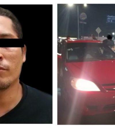 'El Lagarto', detenido en Escárcega, conducía alcoholizado y lo acompañaba otro presunto miembro del CJNG