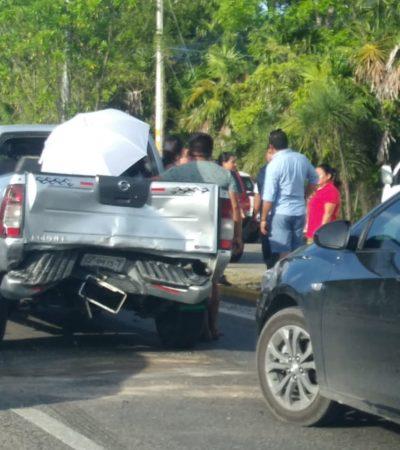 Carambola en la carretera federal Playa-Puerto Morelos