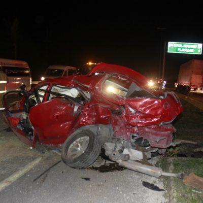Aparatoso accidente en Punta Venado deja seis heridos