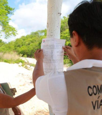 Sedetus y autoridades locales realizan 35 clausuras en operativos para evitar que proliferen asentamientos irregulares en Cancún