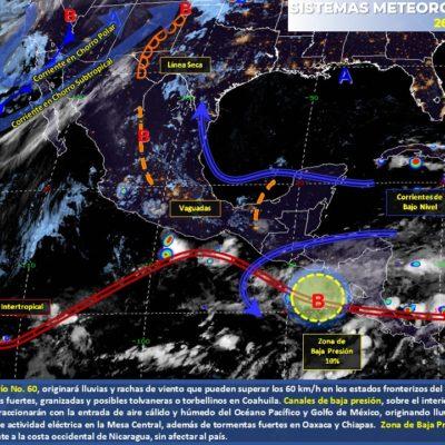 PRONÓSTICO DEL CLIMA: Domingo caluroso con probables lluvias por la tarde en Quintana Roo