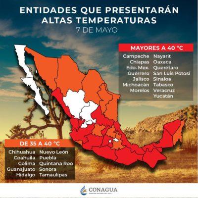 PRONÓSTICO DEL CLIMNA: Se esperan temperaturas de 35 a 40 grados en Quintana Roo