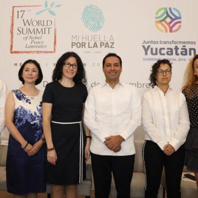 Confirman asistencia 21 premios Nobel de la paz a cumbre mundial a realizarse en Mérida