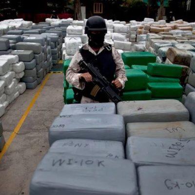 Suman más de 17 millones de dólares en decomisos de efectivo y drogas al crimen organizado