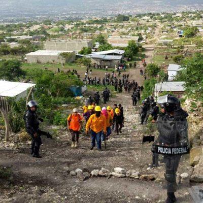 Desalojan asentamientos irregulares en Área Natural Protegida del Cañón del Sumidero en Chiapas