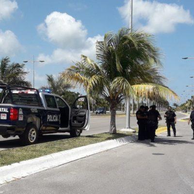 """Sujetos armados realizan disparos al aire para distraer a policías de Cozumel"", asegura Guido Renán Rosas"