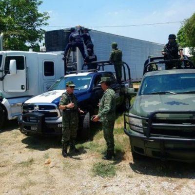 Aseguran dos tráileres en Tabasco con 200 kilos de droga; uno de ellos tenía Quintana Roo como destino