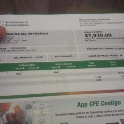 Afecta a comerciantes de José María Morelos, altas tarifas del servicio de electricidad
