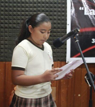 Escuelas de la Zona Maya, impulsan las habilidades ortográficas de alumnos y rinden tributo a las madres de familia, con un concurso de redacción de cartas