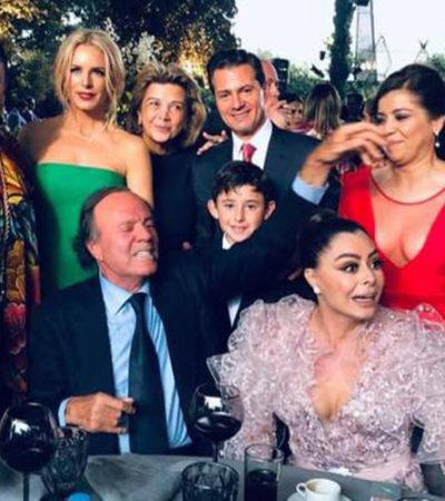 Asiste Peña Nieto a boda 'fifí' acompañado de Tania Ruiz, que se presume es su pareja sentimental