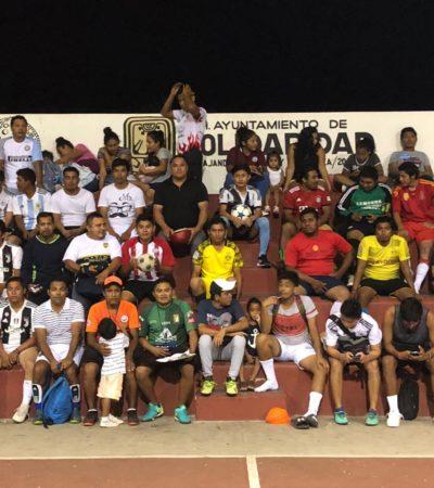 Los jóvenes deportistas de Solidaridad y el estado serán prioridad, asegura Ismael Sauceda durante recorrido por el fraccionamiento Misión de las Flores de Playa del Carmen