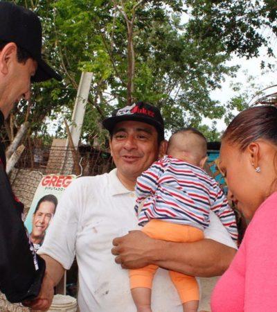 """""""Encabezaré lucha por regularizar los asentamientos irregulares"""", asegura Greg en Cancún"""