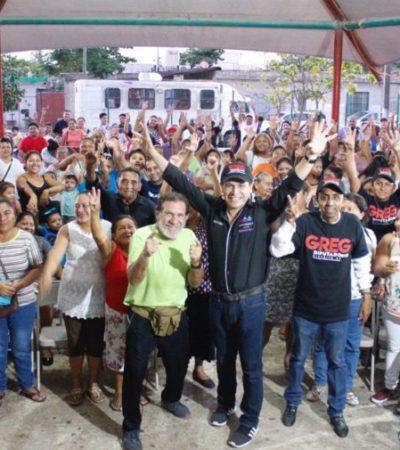 """""""Estaré del lado de la gente siempre, defendiéndola y apoyándola"""", asegura Greg Sánchez"""