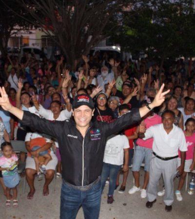 Greg Sánchez cierra campaña con el compromiso de sacar a la concesionaria Aguakan de Cancún