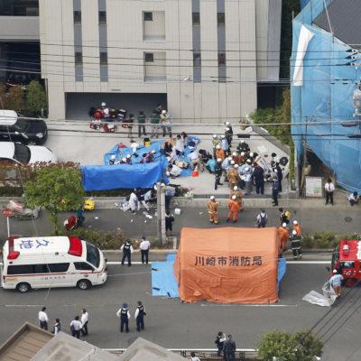 Acuchilla sujeto a 13 niñas en Japón y luego se corta la garganta; incierto aún número de muertes