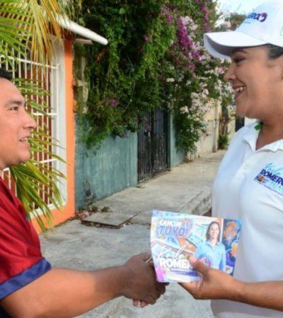 """""""Trabajaré para que los cancunenses mejoren sus condiciones de vida"""", asegura Karla Romero"""