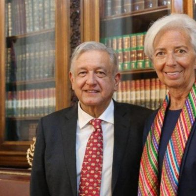Felicita Christine Lagarde a AMLO por políticas fiscales 'prudentes', luego de reunirse en Palacio Nacional
