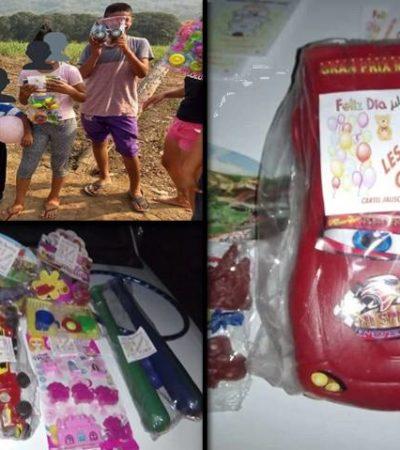 Confirma gobernador de Veracruz que CJNG repartió juguetes por el Día del Niño