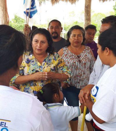 Se compromete Rocío González proyecto de trabajo que responda a la gente