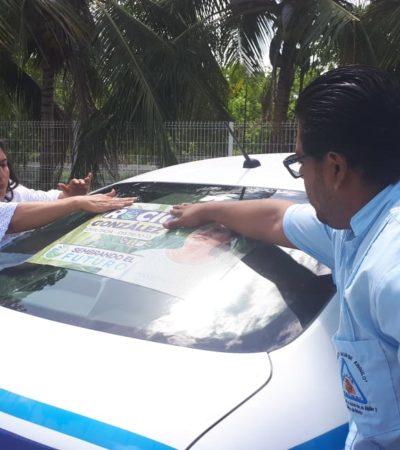 Taxistas de Bacalar se suman al proyecto de Rocío González