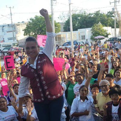 Reyna Durán cierra campaña arropada por el Distrito 5