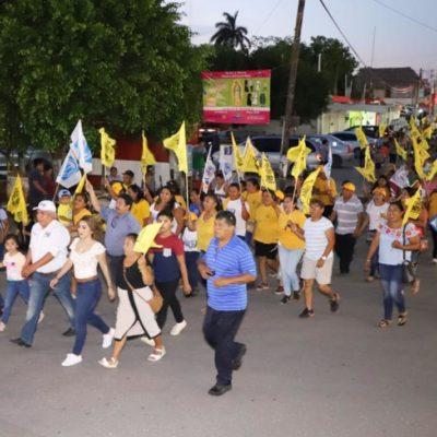 Pedro Pérez cierra campaña en Carrillo Puerto y ofrece mejorar la vida en la Zona Maya desde el Congreso