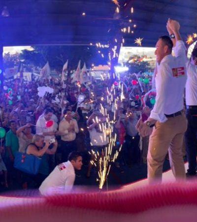 """""""SERÉ LA VOZ DE TODOS, DE UN COZUMEL UNIDO"""": Cierra Carlos Hernández campaña con un llamado a salir a votar el próximo domingo"""
