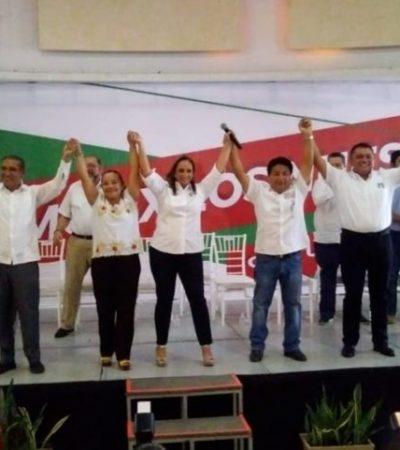 """""""TENEMOS CANDIDATOS MUY PERSEVERANTES"""": En su visita a Chetumal, afirma Claudia Ruiz Massieu que los candidatos del PRI en QR darán buenos resultados el próximo 2 de junio"""
