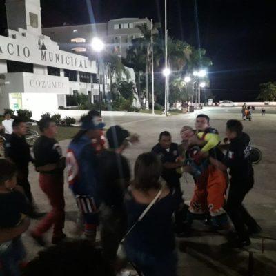 ¡SE ALEBRESTA LA PAYASADA!: Payaso protagoniza riña; exige 'derecho de piso' a competencia en Cozumel