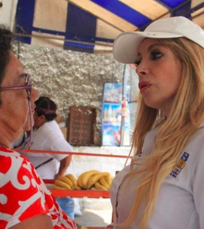 Seguridad y mejores condiciones laborales, el reclamo en el tianguis de la Región 219, según Fátima Garnica