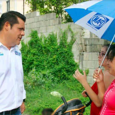 Dice Eduardo Pacho que Cancún merece paz, tranquilidad y seguridad