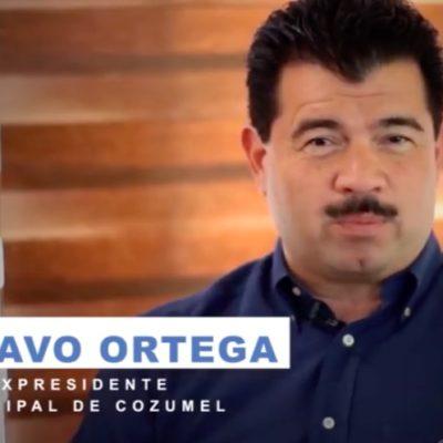 Sale Gustavo Ortega a pedir el voto a favor de Jesús Zetina Tejero en Cozumel