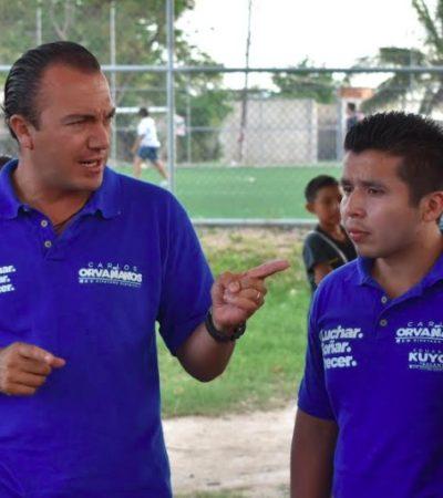 Carlos Orvañanos se pronuncia por calles tranquilas, iluminadas y seguras en Cancún