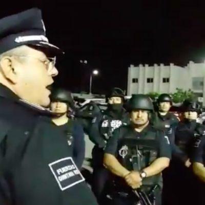 TOMA CAPELLA CONTROL DE SEGURIDAD PÚBLICA DE SOLIDARIDAD: Arriban policías estatales, soldados y marinos para imponer el Mando Único tras decreto del Gobernador