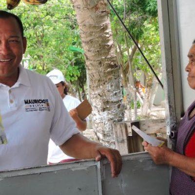 Recorre Mauricio Delfín las calles de la SM 105 en Cancún