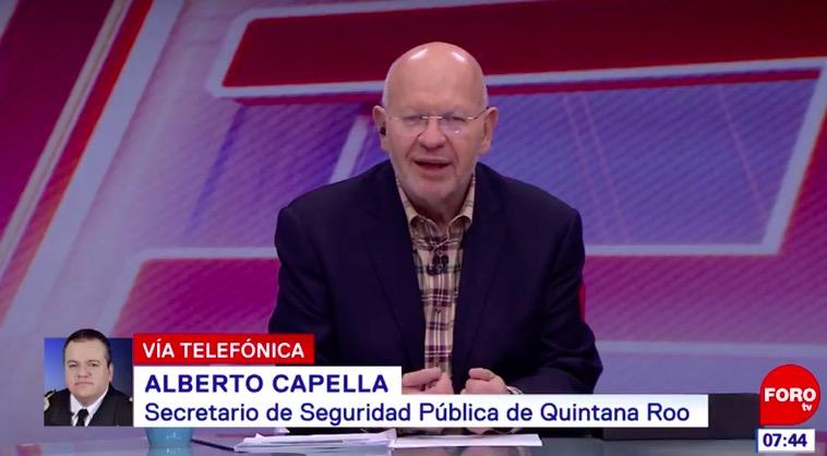 DEFIENDE CAPELLA CIFRAS EN TELEVISA: Mando Único ha disminuido homicidios dolosos en Cancún, dice