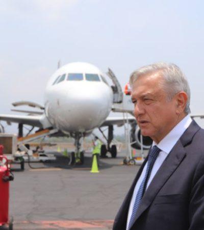 Enfrenta AMLO sin miedo inestabilidad en intento de aterrizaje fallido en Nayarit