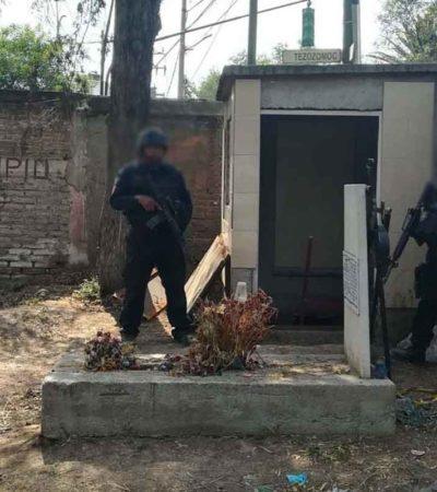 HUACHICOL EN EL INFRAMUNDO: Detectan toma en túnel bajo capilla de panteón en Azcapotzalco