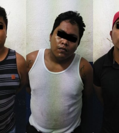 Detienen a tres narcomenudistas en Puerto Aventuras con marihuana, 'crack' y cocaína