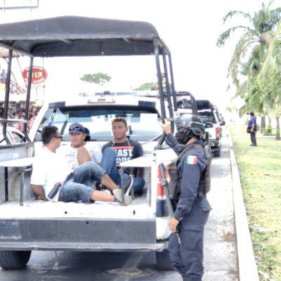 Arrestan a vendedores irregulares en Cozumel