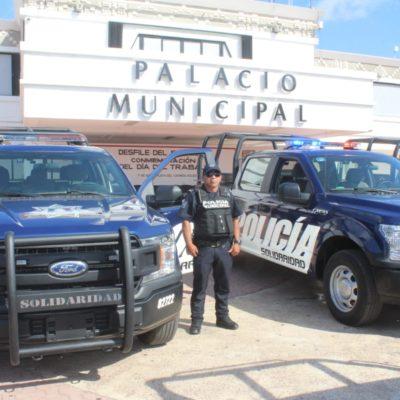 """PRESENTAN NUEVAS PATRULLAS EN SOLIDARIDAD: Reforzarán seguridad en Playa del Carmen y Puerto Aventuras """"para que se la vayan pensando los delincuentes"""", advierte Alcaldesa"""