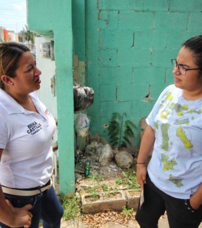 Realiza Erika Castillo campaña de contacto ciudadano con propuestas reales en el Distrito 6 de Cancún