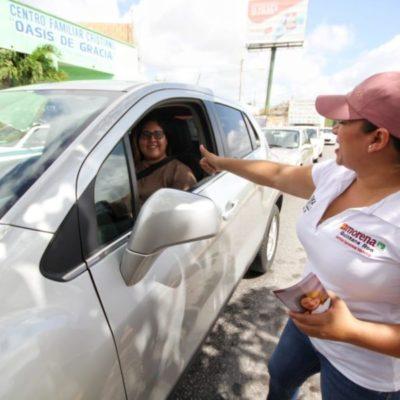 Asegura Érika Castillo que la respuesta ciudadana ha sido favorable desde el arranque de su campaña en el Distrito 6