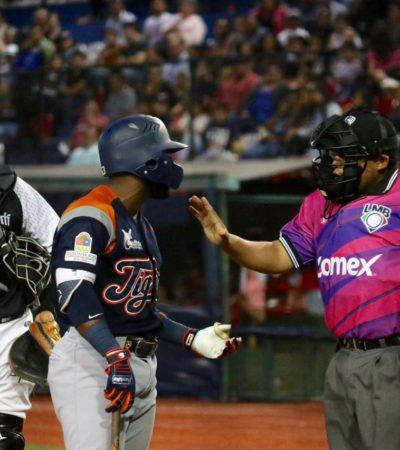 LA SERIE SE LA APUNTALAN LOS BÉLICOS:Otro juego de muchas carreras se dio en la verde Antequera, con la victoria 12-7 de los Guerreros de Oaxaca sobre los Tigres de Quintana Roo.