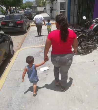 Rescatan a niño de dos años que era maltratado por su padrastro en la colonia San Vicente de Cancún