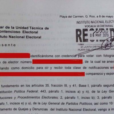 Ciudadanos de Playa del Carmen denuncian a Movimiento Ciudadano por afiliarlos sin su consentimiento
