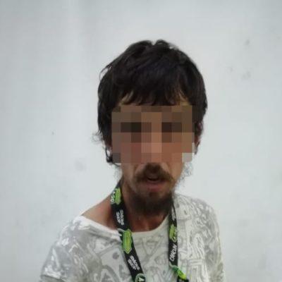Detienen a extranjero con varias dosis de droga en la colonia Gonzalo Guerrero, de Playa del Carmen