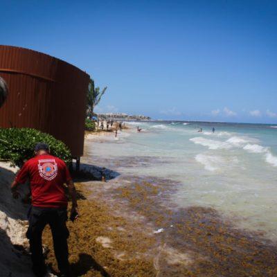 Erosión daña una cabaña de playa inclusiva en Playa Caribe
