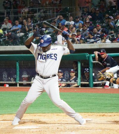 ESTADOS UNIDOS VE GANAR A LAREDO: Nueve carreras en el primer tercio de la contienda, encaminó a los Tecolotes a vencer 14-5 los Tigres de Quintana Roo en el inicio de serie inter zonas